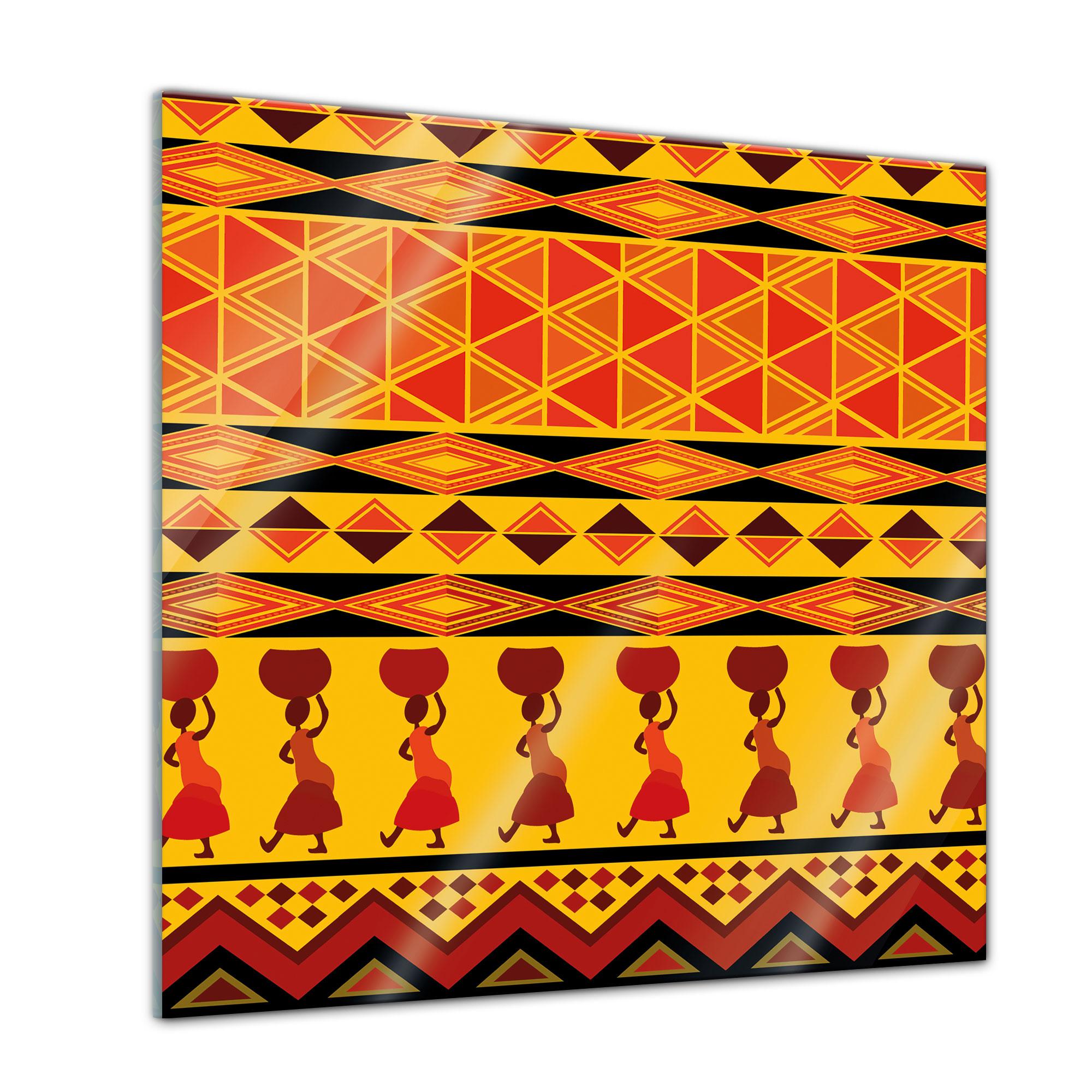 glasbild afrika design 30x30 cm ebay. Black Bedroom Furniture Sets. Home Design Ideas