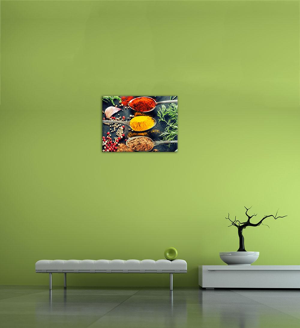 leinwandbild kr uter und gew rze 50x40cm ebay. Black Bedroom Furniture Sets. Home Design Ideas